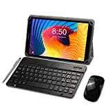 Tablet with Keyboard, 8 inch 1080P HD Tablets, Quad-Coree Android 10 Tablets, 3GB RAM, 32GB Storage 128GB Extended Memory, Bluetooth 5.0, WiFi, GPS, USB - (Grey)