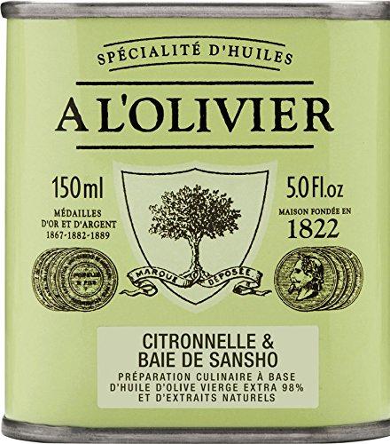 A l'Olivier - 'La Collection 1822' - Olivenöl mit Zitronengras und Sansho-Pfeffer (Citronelle et Baie de Sansho) 150 ml