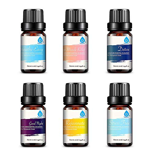 Pursonic 100% Pure Essential Oil Blends Gift Set, (611138326049)