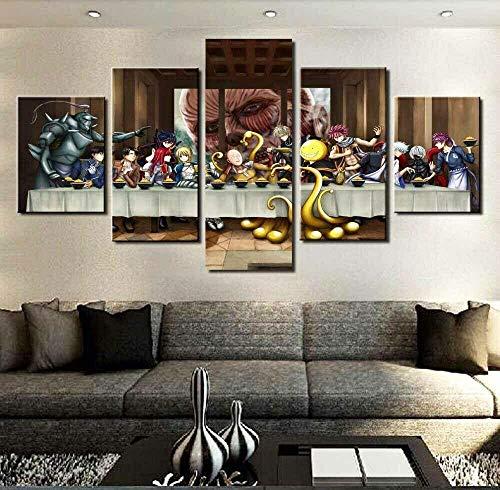 5 Panel/Set Lienzos Handart Cuadro En Lienzo Cinco Partes HD Clásico Óleo Impresiones Decorativas Cartel Arte Pared Pinturas Hogar Lienzo Lienzo De Anime