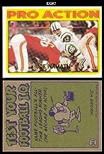 1972 Topps Regular (Football) Card# 343 Joe Namath IA of the New York Jets ExMt Condition