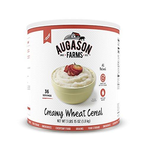 Augason Farms Creamy Wheat Cereal 3 lbs 15 oz No. 10 Can