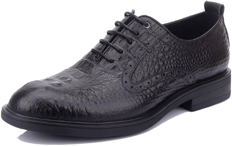 ASJUNQ Men's Business shoes Driving shoes,Black-39