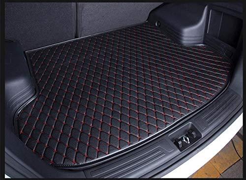 PanYFDD Costumbre Maletero del Coche Mat for Seat Ibiza Arona Leon Córdoba Toledo Marbella Ronda Alquiler de Terra Accesorios Suelo colchonetas for Coches (Color : Black Red)