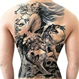 Temporary tattoo stickers on the men back, large picture waterproof and durable tattoo (M3)