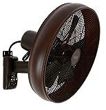 LUCCI Air Breeze Ventilatore da parete con telecomando, Oil Rubbed Bronze