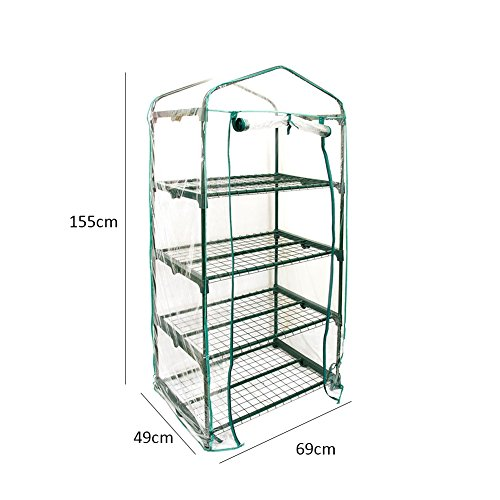 lievevt animgb PVC Warm Garden Tier Mini Household Plant Greenhouse Cover (without Iron Stand)