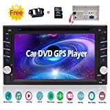 6.2 inch Double Din Car Video DVD CD Player in Dash Bluetooth Car