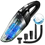 Handheld Vacuum Cleaner Cordless, Portable Car Vacuum Cleaner High Power Cordless, AomiAuto Rechargeable 12V 120W Lightweight Wet Dry Household Auto Mini Vacuum Cleaner for Home and Car Cleaning