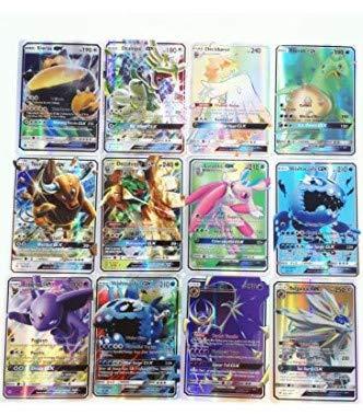 cheap4uk 60 Piezas Cartas de Pokemon Surtidas Tarjetas GX Colección Pokemon Juegos Tarjetas Regalo de Año Nuevo Juguetes para niños Juego de Ocio Juego de Fiesta