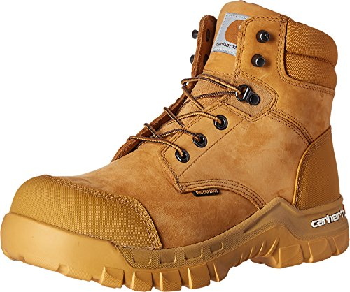 """Carhartt Men's 6"""" Rugged Flex Waterproof Breathable Composite Toe Leather Work Boot CMF6356, Wheat, 10.5 M US"""