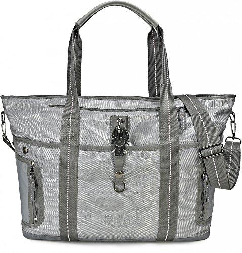 GEORGE GINA & LUCY, Damen Handtaschen, Shopper, Henkeltaschen, Weekender, Umhängetaschen, 50 x 30 x 17 cm (B x H x T), Farbe:Hellgrau