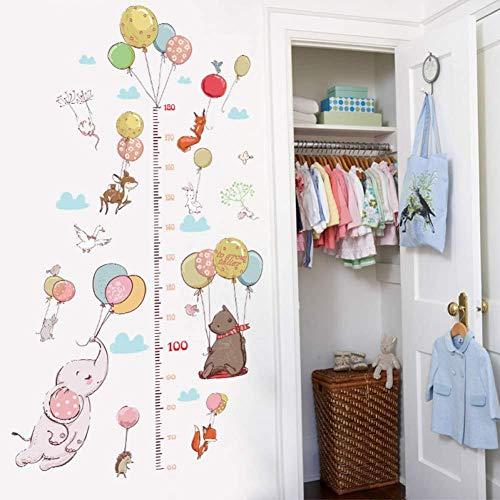 Muurstickers Dierlijke Ballon Hoogte Kaart Kinderen Kamer Slaapkamer Kleuterschool Klas Decoratie Groei Muursticker