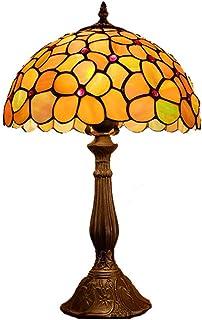 ACHNC Vintage Tiffany Lámparas de Mesa 12 pulgadas, Tiffany Lámpara de Cabecera Antique Original, Pastoral Flowers Stained Glass Lámparas, E27 Lámpara de Dormitorio