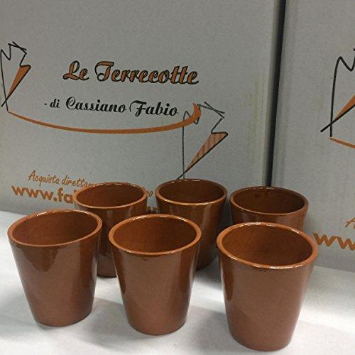 amazing cassiano Bicchieri in Terracotta Lucidi Set 6 Pezzi
