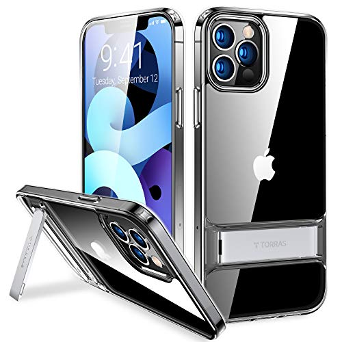 TORRAS MoonClimber Stand for iPhone 12 Pro Max Case, [Armor-Level...
