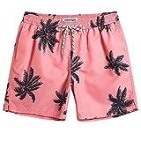 MaaMgic Mens Short Swim Trunks Quick Dry Swimming Shorts Print Bathing Suits