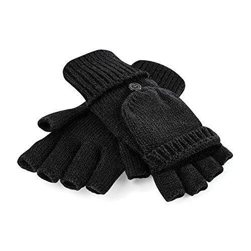 Beechfield - Guantes sin dedos invierno convertibles
