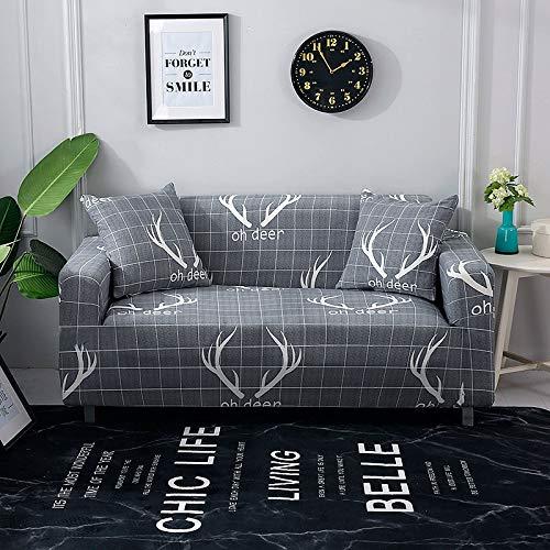 Funda de sofá Moderna geométrica a Prueba de Polvo elástica Flor sofá Toalla Muebles de Sala Cubierta Protectora A27 1 Plaza