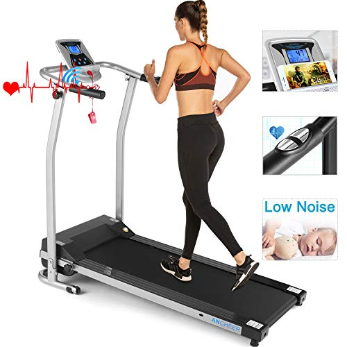 Review ANCHEER Folding Treadmill, Electric Motorized Treadmill with LCD Monitor, Walking Jogging Run...