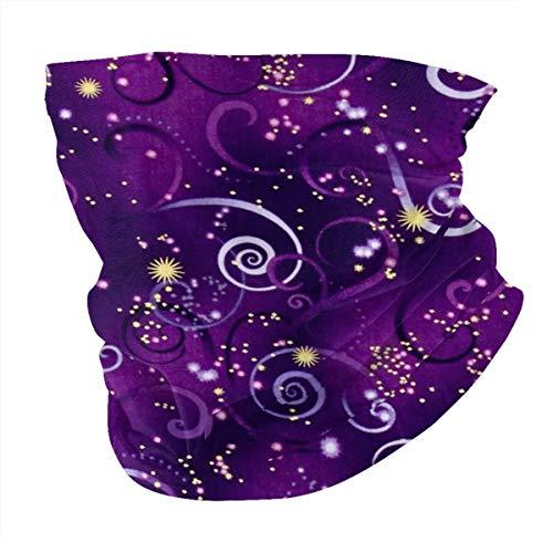 Antokos Dragonfly Metallic Swirling Sky Deep Purple Unisex reutilizable ajustable cara cubierta bufanda protección UV cuello pasamontañas 3d impreso variedad cabeza bufanda