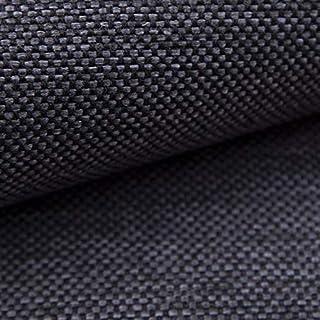 NOVELY MUDAU | Polsterstoff | Meterware | Möbelstoff | Webstoff | Struktur-Stoff | Mélange | Grober Handwebcharakter | 26 Farben 12 Dunkelgrau