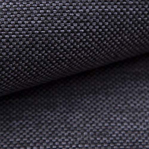 NOVELY® MUDAU | Polsterstoff | Meterware | Möbelstoff | Webstoff | Struktur-Stoff | Mélange | Grober Handwebcharakter | 26 Farben (12 Dunkelgrau)