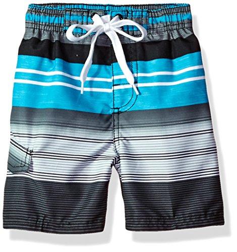 Kanu Surf Boys' Toddler Echo Quick Dry UPF 50+ Beach Swim Trunk, Victor Black, 2T