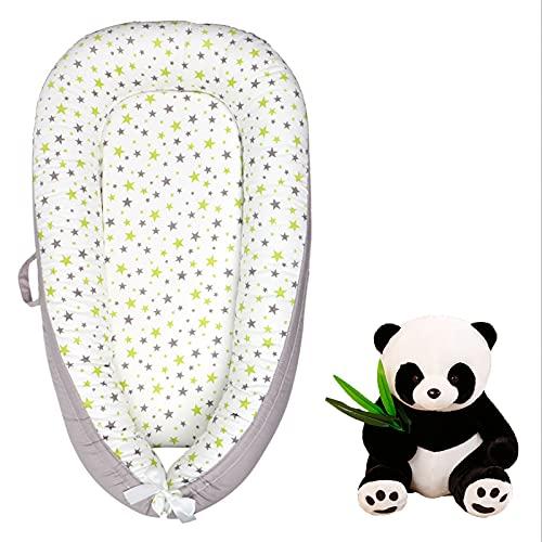 New Baby Nest Sillón reclinable para bebés Super Suave Cuna portátil para bebé Necesidades para el bebé recién Nacido Viene con una muñeca Panda Adecuado para Viajes, Siesta,Star b