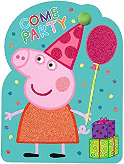 Amscan Peppa Pig Birthday Party Invitations