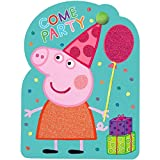 amscan Peppa Pig Birthday Party Invitations   Pack of 8   Party Supply