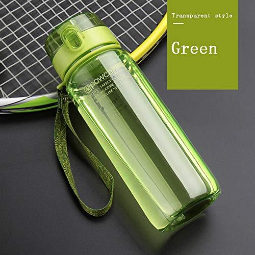 Smilecstar Waterbeker, kunststof, draagbaar, voor studenten, persoonlijkheid, sport, waterfles met filter, ijs, groen, 800 ml