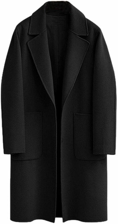 HTOOHTOOH Womens Casual Overcoats Single Breasted WoolBlend Pea Coats