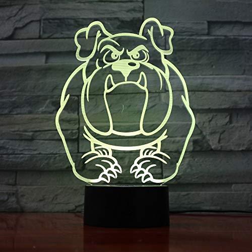 Nette Welpenfarbstudentenhundelichtkindergeschenk-Notenschaltertischlampenbaby-Schlafbeleuchtung