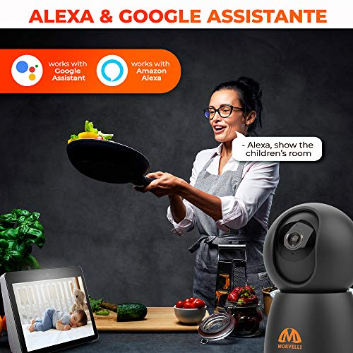 Newest 2021 FHD 1080P WiFi Indoor Home Security Camera Two-Way Audio, Smart Wireless Baby Monitor, IR Night Vision, App for iPhone, Android, Surveillance Security Cam Motion Detection, Alexa