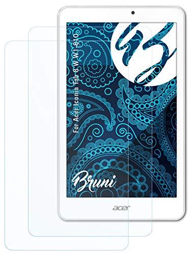 Bruni Schutzfolie kompatibel mit Acer Iconia Tab 8 W W1-810 Folie, glasklare Bildschirmschutzfolie (2X)