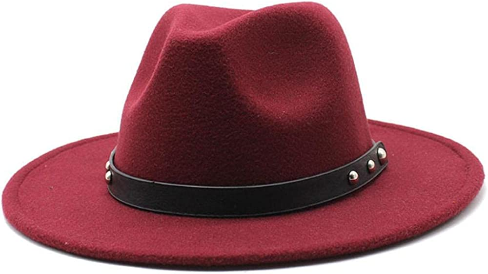 Women's and Men's Fedora Hat Classic Limited time sale Panama Wide Elegant OFFicial site Wo Brim