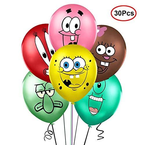 30PCS Spongebob Inspired Balloons Party Supplies 12