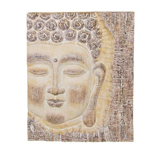 Vidal Regalos Cuadro en Relieve Cabeza de Buda Resina 64 cm