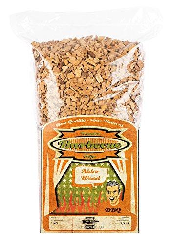 Axtschlag Räucherchips Erle, 1000 Gramm sortenreine Räucherspäne für besondere Rauch- und Geschmackserlebnisse, für alle Grills
