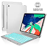 iPad Pro 11 Keyboard Case - Boriyuan Protective Ultra Slim Hard Shell Folio