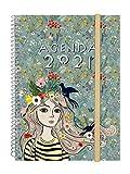Finocam - Agenda 2021 Semana vista apaisada Espiral Design Collection Lady Espaol, Sobremesa - E10-155x212 mm