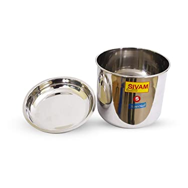 sivam SS Stainless Steel Cooker Container Suitable for Outer Lid Pressure Cookers (5L, Multicolour)
