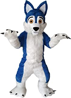 Blue Husky Mascot Costume Fancy Party Dress Halloween Dress