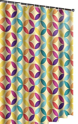 vinylla PEVA wasserdicht Duschvorhang 180x 180cm Farbe Geometric Circles
