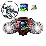 Rabbfay GPS Telecamera per Bicicletta Bike Cam, Impermeabile Davanti e Posteriore Dash Cam per...