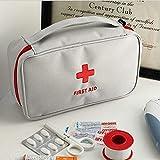 Cylficl Botiquín de Primeros Portátil Kit de Primeros Auxilios, Medicina Bolsa de Viaje de Almacenamiento, del Kit de Supervivencia de Emergencia médica (Color : Gray)