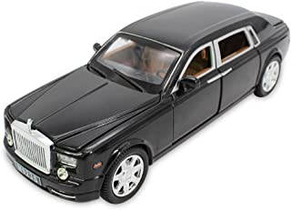CLEVER BOYS 1:24 Scale Diecast Vehicle Model Toy Cars with Sound and Light Pull Back Power for Kids Adults.(Black)