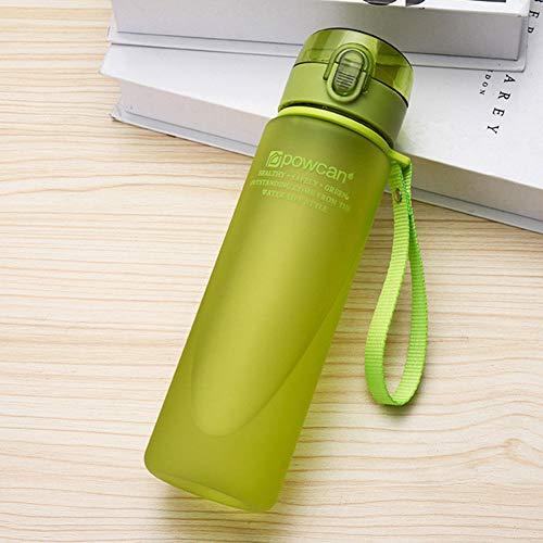 ZLC 400 ml / 560 ml Bottiglia d'acqua portatile a tenuta stagna Tour di Alta qualità Sport all'aperto in bicicletta Bere bottiglie d'acqua in plastica, Verde smerigliato, 560 ml