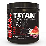 TITAN BCAA+: Branched Chain Amino Acids enhanced with glutamine- Aids in Muscle Recovery, Increase Muscle Protein Synthesis, and Improve Lean Body Mass-Perfect 2:1:1 BCAA ratio- 50 (Watermelon Splash)